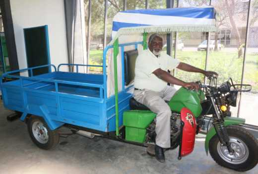 JKUAT tricycle transporter machine