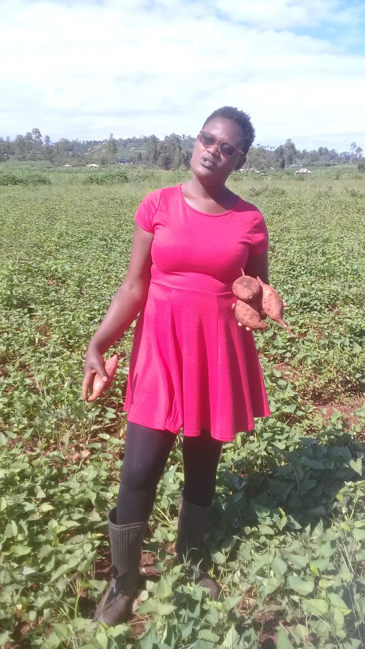 Jael Ochanji sweet potato farmer