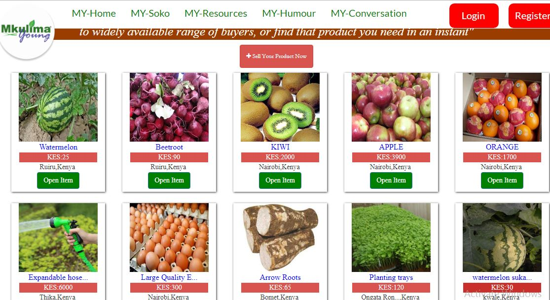Online platform enables farmers sell and buy all types of